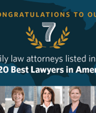Seven MI Attorneys Listed in 2020 Best Lawyers