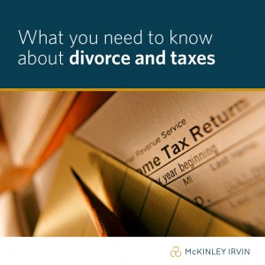 What you need to know about divorce and taxes